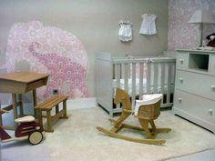 babykamer in grijs met 2 olifanten van INKE