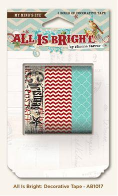 Rhonna DESIGNS: CHA Summer 2012: Sneak Peek...All is Bright washi tape