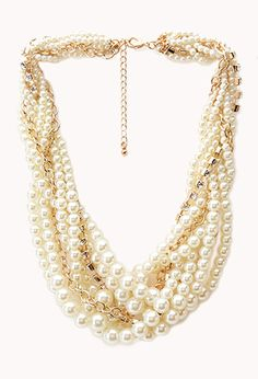 Opulent Faux Pearl Necklace | FOREVER21 - 1000107636