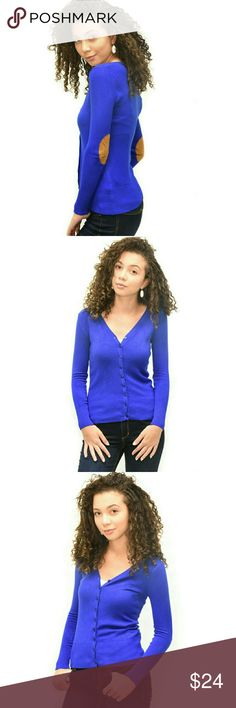 Long-Sleeved Elbow-Patch Cardigan A chic layering piece for a work to casual look. It features:  Long sleeves Button closure at the front Elbow patch V-neckline Ribbed trim at cuffs and hem Sweaters Cardigans