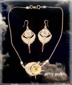 """P@tty Perline : """"Sole e Luna"""" Collana e Orecchini"""