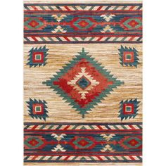 Well Woven Tulsa Lea Traditional Southwestern Tribal Cream 7 ft. 10 in. x 9 ft. 10 in. Area Rug TU-102-7 - The Home Depot Southwest Rugs, Southwest Decor, Southwestern Style, Southwestern Outdoor Decor, Southwest Pottery, Moroccan Design, Jute Rug, Color Pallets, Neutral Colors