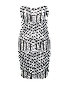 Cameo Rose Silver Sequin Bodycon Dress | New Look