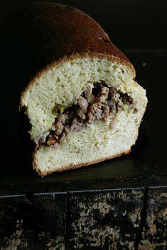 Brioche w/ pork suasage & pistachio filling