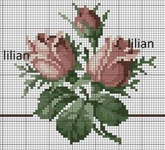 This Pin was discovered by Ayş Cross Stitch Rose, Cross Stitch Borders, Cross Stitch Flowers, Cross Stitch Kits, Cross Stitch Charts, Cross Stitch Designs, Cross Stitching, Cross Stitch Embroidery, Hand Embroidery