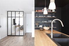 «Noir industriel» 65 Buttes Chaumont – Bän Architecture
