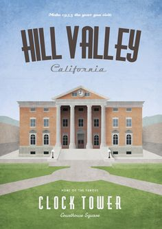 Hill Valley Travel Posters by Dean Walton Continuing my travel poster theme I've created these three Back to the Future inspired designs, each relating to one of the film trilogy's time periods.