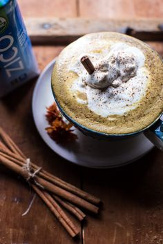 Light Coconut Pumpkin Spice Latte