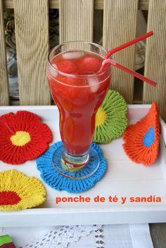 Ponche de té y sandía  El Ágora de Ángeles