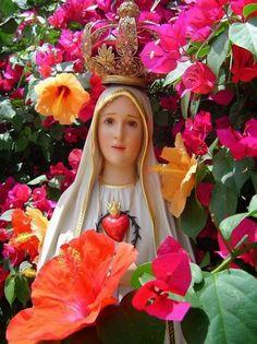 ® Blog Católico Gotitas Espirituales ®: VIRGEN DE FÁTIMA Mother Mary Images, Images Of Mary, Blessed Mother Mary, Blessed Virgin Mary, Catholic Prayers, Catholic Saints, Pictures Of Jesus Christ, Lady Of Fatima, Biblical Verses