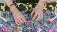 Простая блуза с трикотажным воротником  1 часть
