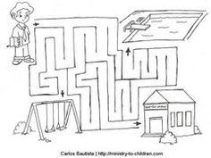 1000 images about bible mazes on pinterest maze kids for Jesus as a boy in the temple coloring page