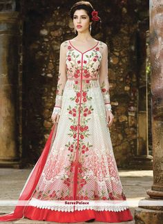 buy lehenga choli online from our extensive collection of indian wear. Buy this impeccable embroidered, lace and resham work long choli lehenga for wedding. Long Choli Lehenga, Anarkali Lehenga, Lehenga Choli Online, Indian Lehenga, Patiala Salwar, Anarkali Suits, White Anarkali, Long Anarkali, Simple Anarkali