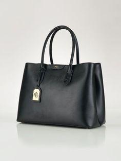 Leather Tate City Tote - Lauren Lauren Handbags - RalphLauren.com Ralph  Lauren Purses, 609b3fb406f