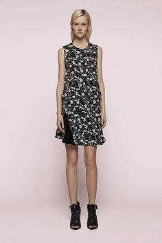 Proenza Schouler Sleeveless Printed Dress...   This drop waist feels very right now.