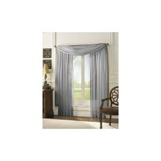 """HLC.ME 3 Piece Silver Sheer Voile Curtain Set: 2 Silver Panels and 1 Scarf by HLC.ME. $17.99. 3 Piece Sheer Voile Panel Set. 1 Scarf is included (60""""x216""""). 2 Sheer Voile Panels are included (60"""" x 84""""). Each panel is approximately 60"""""""" wide and 84"""""""" in Length. For a full look use 2 panels to cover a standard size window. This picture shows two sheer panels, this package contains two (2) Sheer Panel and 1 Scarf which measures 60"""" x 216"""" Inches. Decorate every window with style..."""
