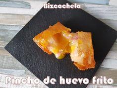 Pincho de huevo frito con patatas y bacon | Cocina