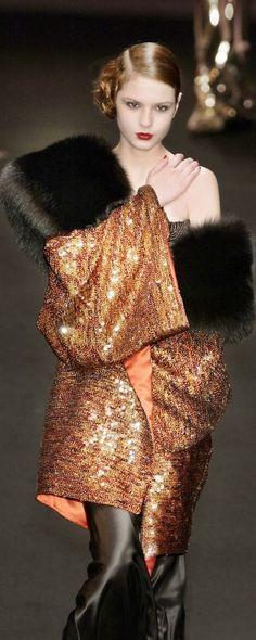 Jean Louis Scherrer. Beautiful except for the fur. Only faux, folks!