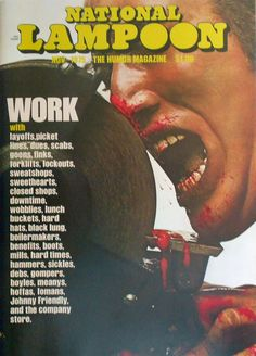 The Iconic Nose To Grindstone Cover We Made A Plaster Cast Of Art Director Peter Kleinman Painted It And Filled With Blood Chicken Guts
