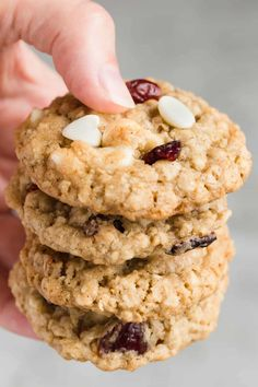 A fabulous chewy cookie – flavorful Cranberry White Chocolate Oatmeal Cookies.