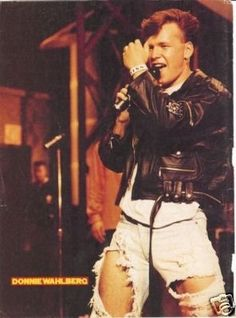 Donnie Wahlberg! Back in the day!  @Bobbie Mitchell Black from that vhs tape hangin tough!! I know u watched it just as much as me!!!!