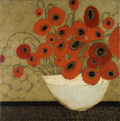 Frida's Poppies Art Print by Karen Tusinski, 36x36 #Abstract