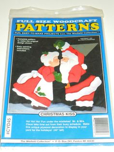 "Woodcraft Pattern Full Size ""christmas Kiss"" New Winfield Collection Free Ship"