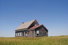 One Room Schoolhouse at Mirage Flats Nebraska