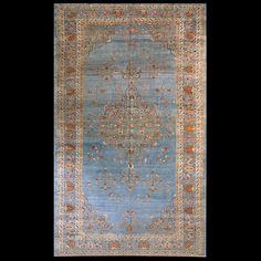 Tabriz Rug - 22461 | Persian Formal 10' 2'' x 17' 2'' | Blue, Origin Persia…