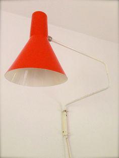 Vintage lamp dutch Anvia Hoogervorst Vintage wandlamp Anvia ontworpen door Hoogervorst