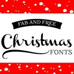 christmas fonts Also links to lots of other amazing fonts!  (click Font Friday under categories in the left margin)