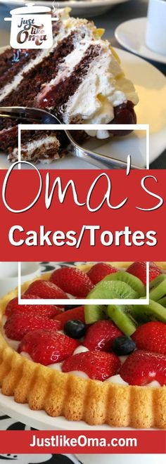 ❤️ Best German Cakes made – Just like Oma ~ German Recipes ❤️ Best German Cakes made ❤️ Check out the best of the best German cake recipes made Just like Oma. Right here: www. German Torte Recipe, German Cakes Recipes, German Desserts, Dutch Recipes, Just Desserts, Baking Recipes, Cake Recipes, Dessert Recipes, Gastronomia