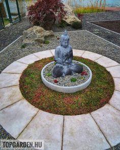 """142 kedvelés, 1 hozzászólás – SD KERT - Spiegel Ákos (@topgarden) Instagram-hozzászólása: """"#gardening #gardendesign #kerttervezés #kerttervező #letisztult #minimalist #minimaldesign…"""" Land Scape, Fountain, Garden Sculpture, Outdoor Decor, Instagram, Home Decor, Buddha, Decoration Home, Room Decor"""