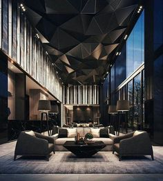 Living Room Styles, Living Room Designs, Living Rooms, Style Salon, Hotel Interiors, Living Room Lighting, Bedroom Lighting, Mirror Bedroom, Luxury Interior Design