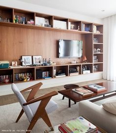 bookcase around TV #decor #livingroom #hometheater #casa