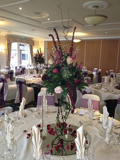 Floral wedding chairs decor