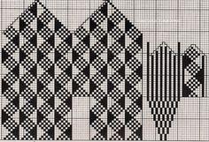 Knitted Mittens Pattern, Knit Mittens, Knitting Socks, Hand Knitting, Intarsia Patterns, Weaving Patterns, Stitch Patterns, Crochet Chart, Knit Or Crochet
