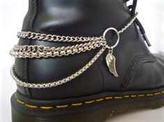 Dr Marten Wings of Desire Boot Bracelets So Cool. Bored with your DMs and want to do something different? Goth, Emo, Biker, Metal-ise your DMs.