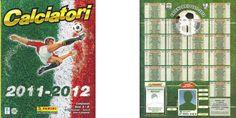 Cover page and introductory calendar of panini calciatori 2011-12 figurine sticker album