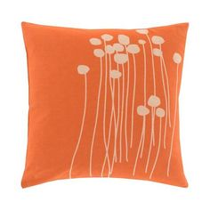 Wishing Flowers Throw Pillow   dotandbo.com
