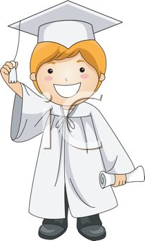 iCLIPART - Illustration of a Kid Holding the Tassle of His Cap
