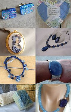 Blue Bluer and Bluest by lslaws55 on Etsy--Pinned with TreasuryPin.com