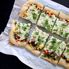 southwest veggie pizza. good topping option for our next roommate pizza party
