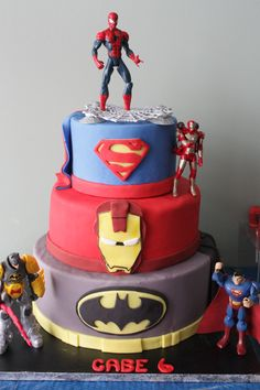 Look out here come Spiderman and friends !brcakes@hotmail.com