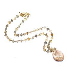 Druzy Geode Necklace Geode Jewelry Eco Jewelry Ceylon by FizzCandy, $117.00