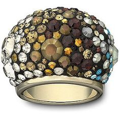 Swarovski Crystal Ring featuring Mocca and AB