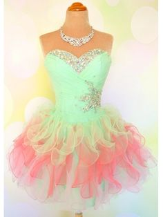 Cute Sweetheart Neckline Ball Gown Short Prom Dresses, Prom Dress 2014