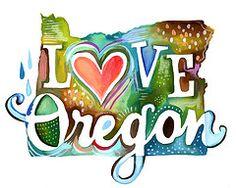 Love Oregon: art print {The Wheatfield by Katie Daisy, via Etsy.she's a Portland gal! Oregon Usa, Portland Oregon, State Of Oregon, Oregon Coast, Central Oregon, Idaho, Nevada, Oregon Living, Washington