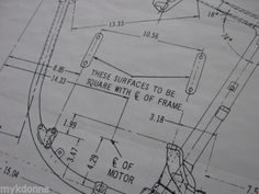 Harley davidson plan drawing print 61ci knucklehead engine harley davidson pan head 1958 64 frame blueprint drawing poster print panhead malvernweather Images