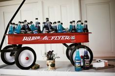 Vintage Wagon from the Vintage Prop Shoppe for bottled beverage - Rentals from Southern Events Party Rental Company  #ringrentparty